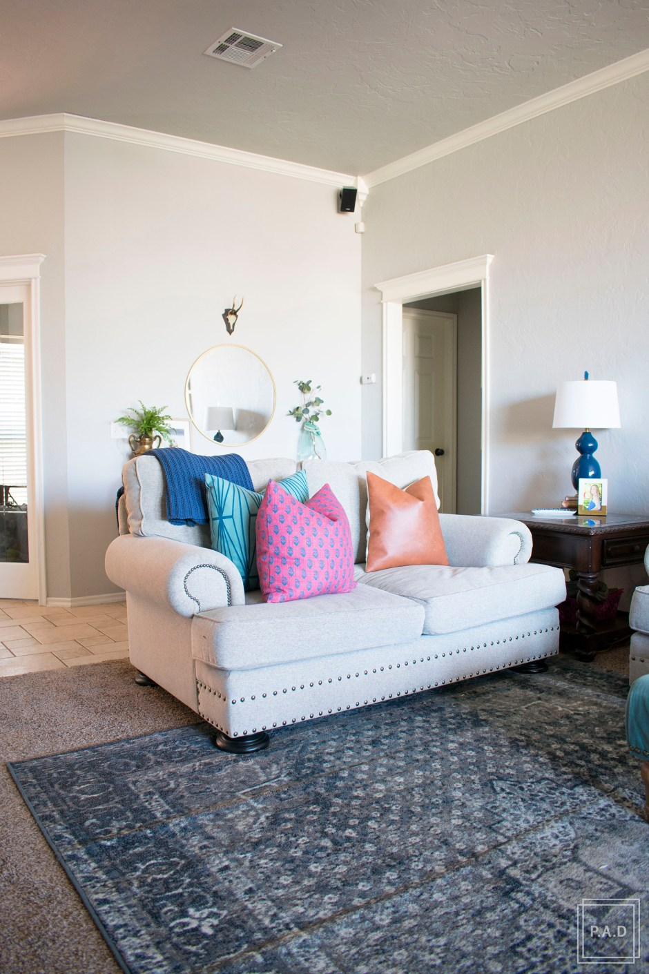 Modern Living Room Reveal | See how we completely transformed our living room. After years of living with it we couldn't be happier to show you the transformation and hope to give you some great living room ideas and inspo