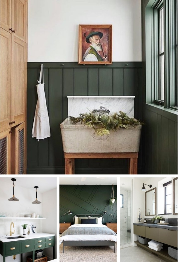 the best dark green paint colors to use in your home project allen designs. Black Bedroom Furniture Sets. Home Design Ideas