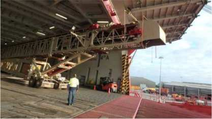 Telestack - Radial Telescopic Conveyor - 922 cbm - From Tasmania to Fremantle