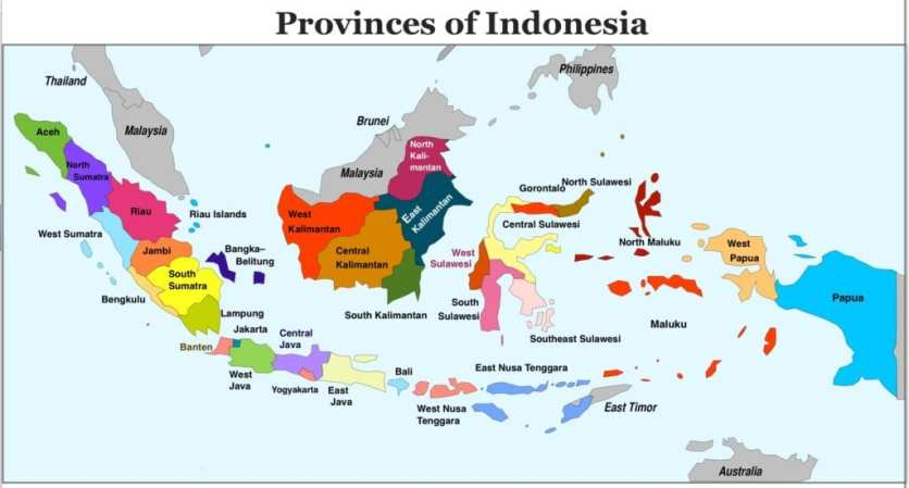 Provinces-of-Indonesia-Map