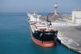Entering into the port of Jeddah very close to the bulk terminal75