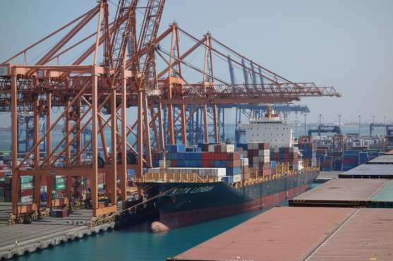 Entering into the port of Jeddah very close to the bulk terminal77