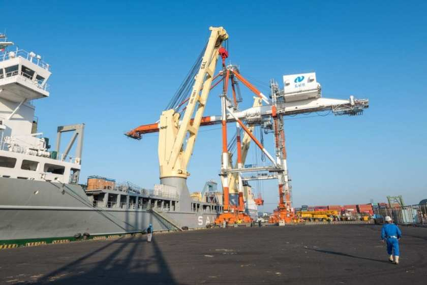 Lone Kaohsiung Container Crane