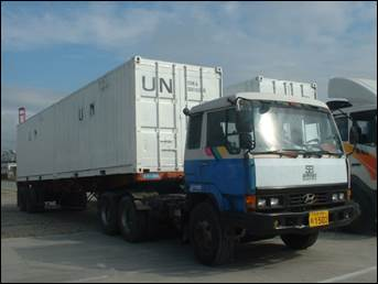 Supplies for Korean troops in LEBANON