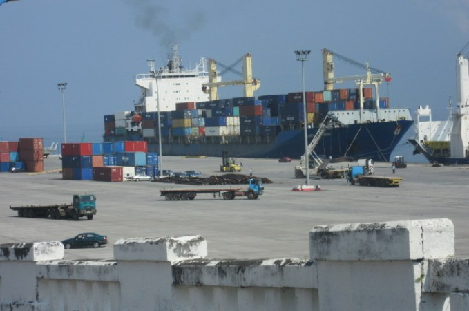A large container vessel