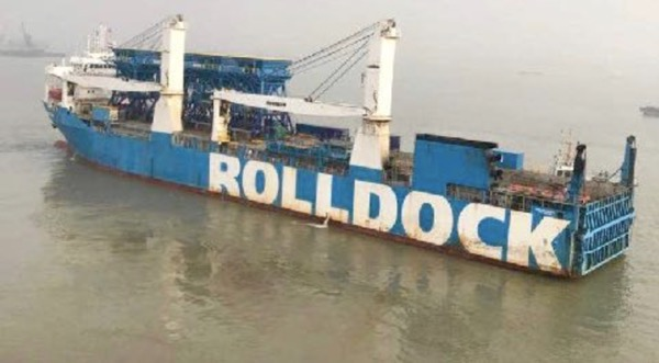 "The ""Rolldock Sun"" left China this weekend with four hoppers on deck, destination is East Africa."