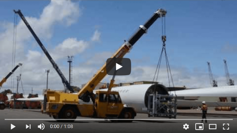 AAL Newcastle - Discharging Windmill Blades in Adelaide