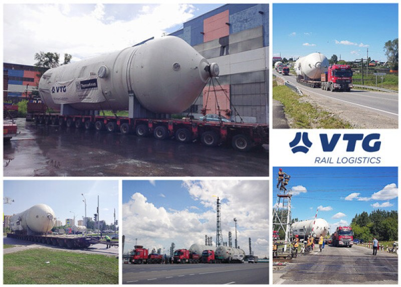 VTG moved a high pressure blowdown vessel with dimensions 2000 x 560 x 580 cm