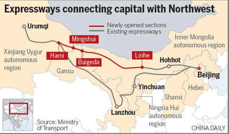 Expressways connecting capital with Northwest.