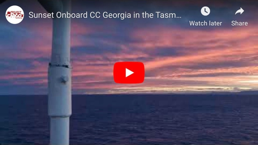 Sunset On-board CC Georgia in the Tasman Sea Near Melbourne