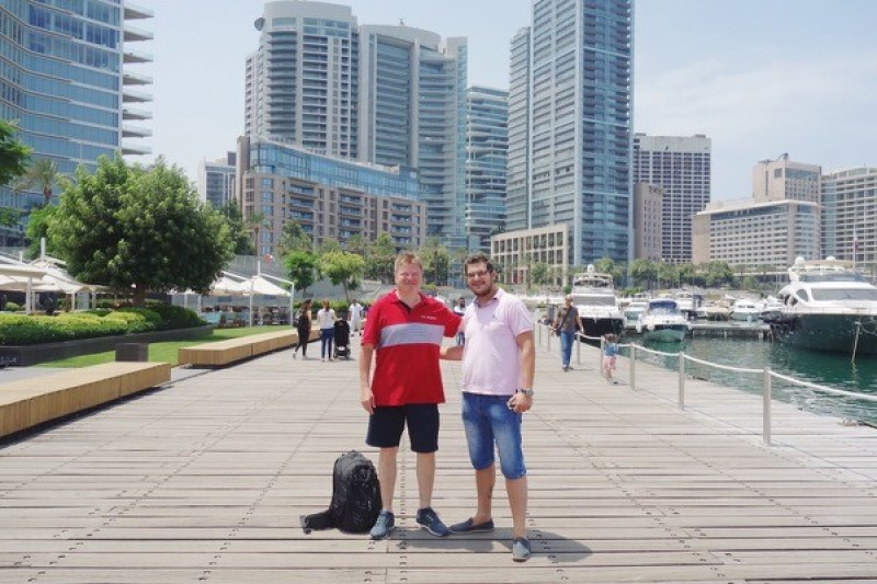 Lunch ashore with Mr. Maroun El Khoury of CMA CGM Lebanon on the Beirut marina.
