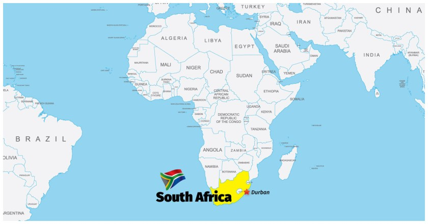 South-Africa-Durban-map