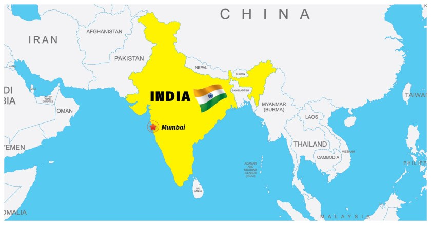 India-Mumbai Map