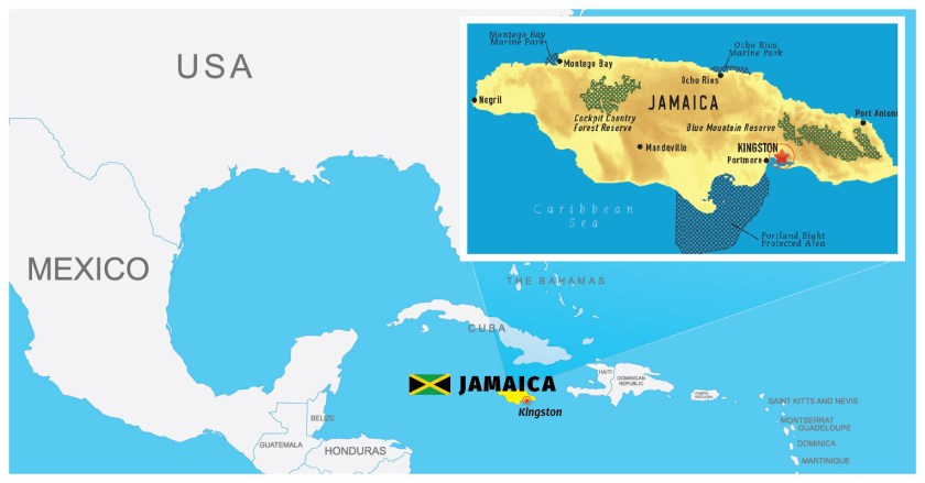 Jamaica on the map