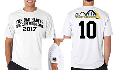 The Bad Habits Drug Court Alumni Game 2017 T-Shirts