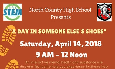 """""""A Day in Someone Else's Shoes"""" Logo"""