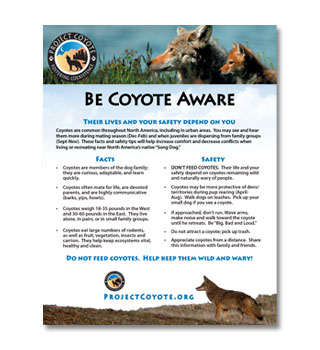 Be Coyote Aware Sign