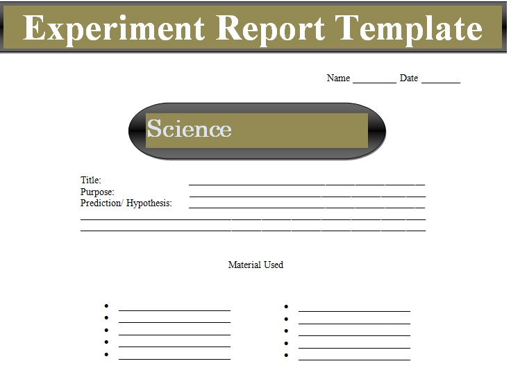 Image result for experiment report template