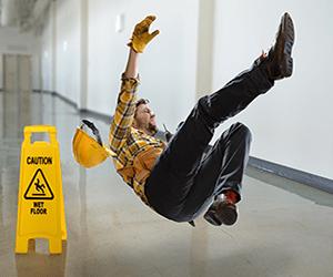 working falling