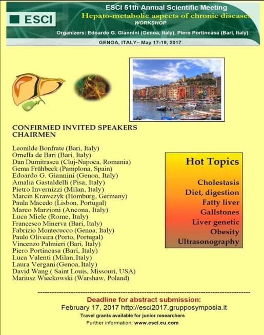 51st Annual Scientific Meeting of the European Society for Clinical Investigation in Genova Italy 8