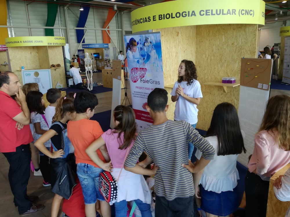 FOIE GRAS project at III Science Fair – Oliveira do Bairro, Portugal