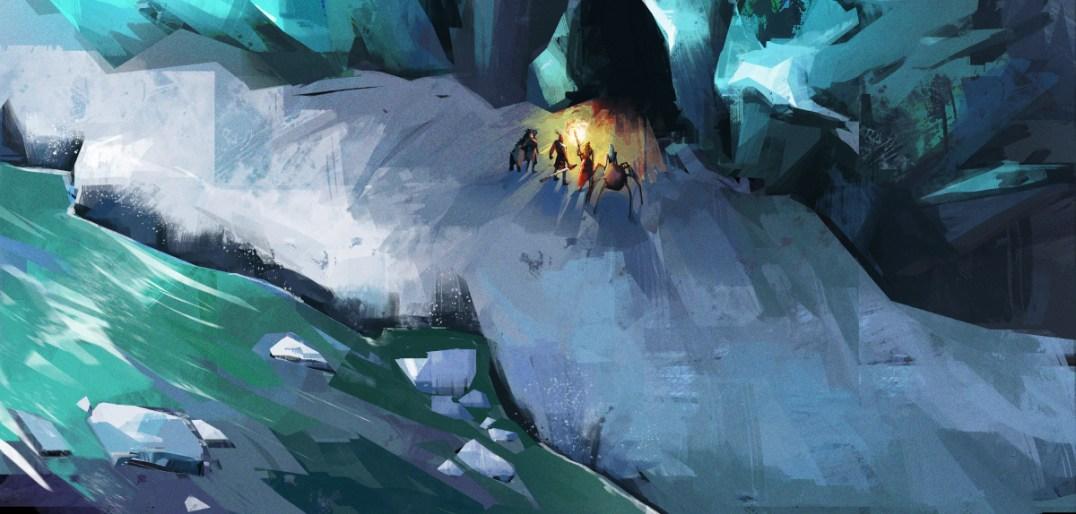Concept art: Cave entrance