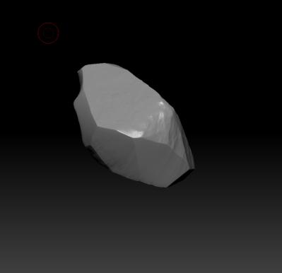 Sculptured rock sample