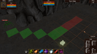 Screenshot of a dungeon crawler game