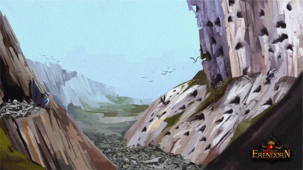 Concept art for Bonelair Gargoyles main settlement