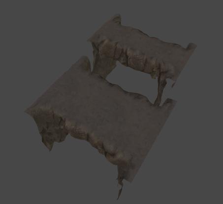 3D renders of stone bridge pieces