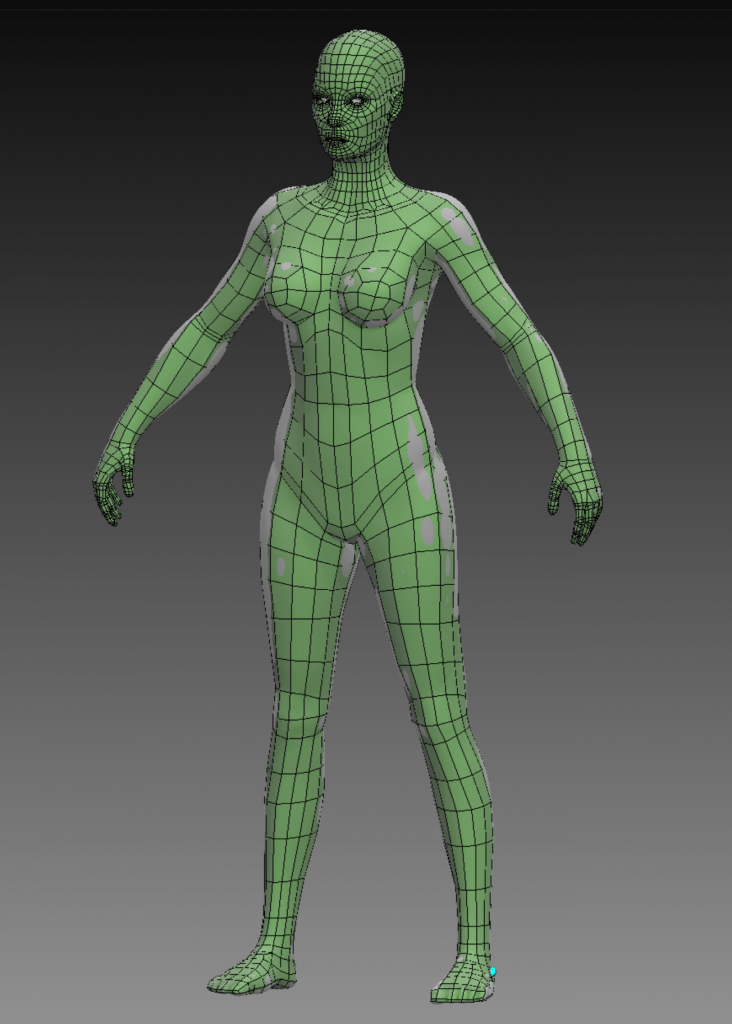 Low poly model of female human