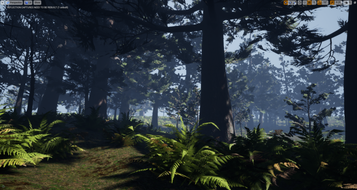 Environment test scene from Depths of Erendorn, made in Unreal Engine