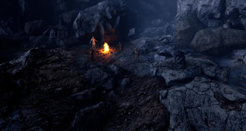 Cave dungeon test scene from Depths of Erendorn