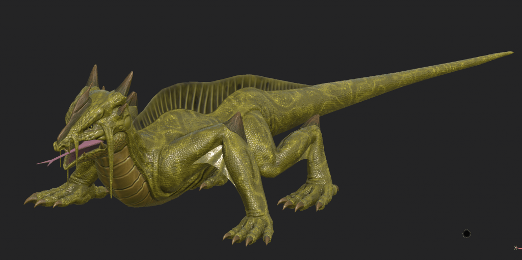 Final textured model of Swamp Lizard from Depths of Erendorn