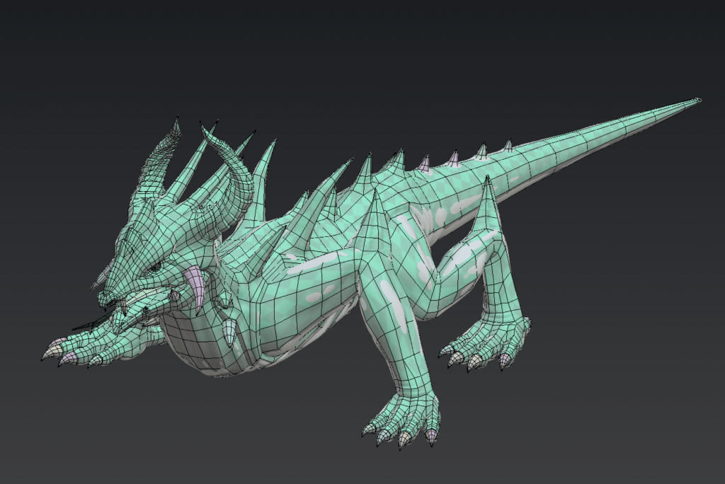 WIP retopology of Spiny Lizard from Depths of Erendorn