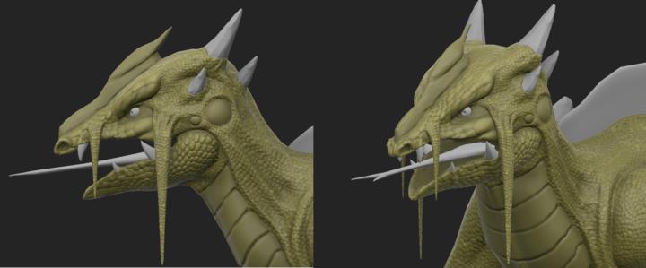 Closeup of textured head of Swamp Lizard