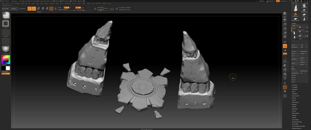 High Poly stone portal in ZBrush