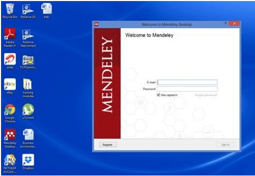Mendeley for desktop and its application