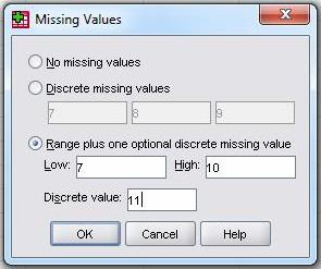 Range plus one optional discrete missing value
