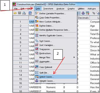 Selecting cases for analysis in SPSS | Knowledge Tank