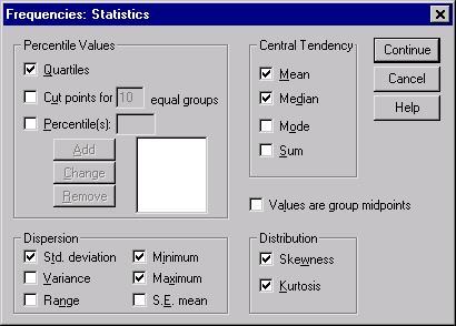 Click on statistics