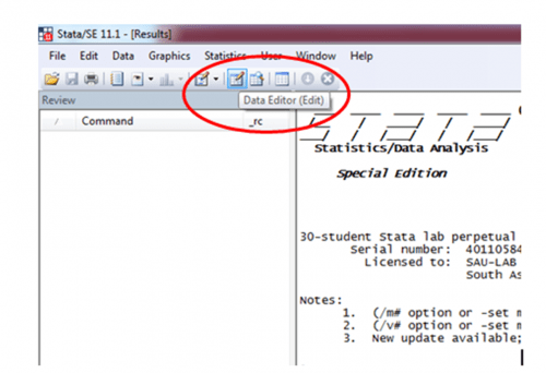 Importing data from microsoft Excel to stata