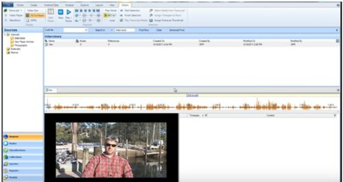 importing videos in Nvivo