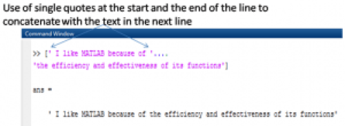 """Use of """"single quotes"""" for concatenation"""