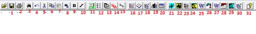 Description of quick tool bar
