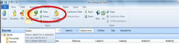 Process to import an Nvivo memo