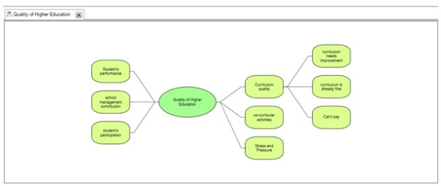 Figure 6: Child idea for curriculum quality in case research of Nvivo