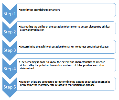 Steps to evaluate and validate new biomarkers (Kumar, Mohan and Guleria, 2006)