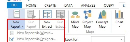 Figure 4: Generating new reports.