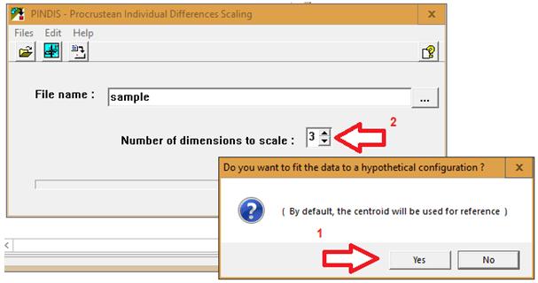 Figure 3: Step 6 for running PINDIS using Hamlet II